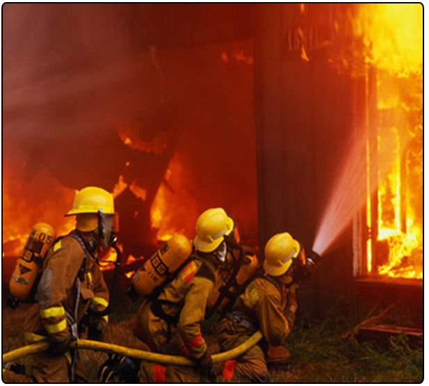 firefighters killing the fire
